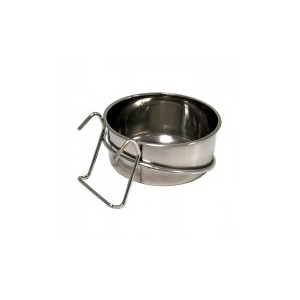 Mangeoire en inox à crochet 7 cm - 14134