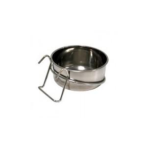 Mangeoire en inox à crochet 9 cm - 14135